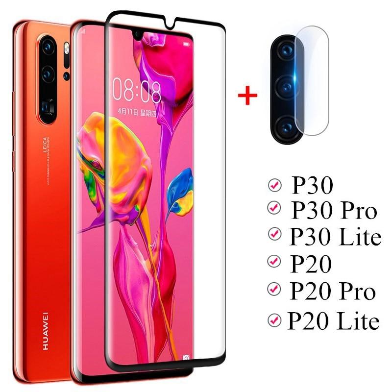Защитное стекло для экрана Huawei P20 P30 lite pro P30lite P20pro P20lite, пленка для объектива, изогнутое закаленное стекло для камеры P30 Pro