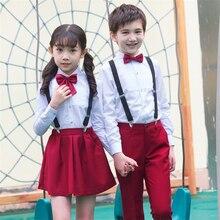 Школьная юбка для девочек, Униформа с длинным рукавом, японская мода, студенческий сценический комплект одежды в британском стиле для колледжа