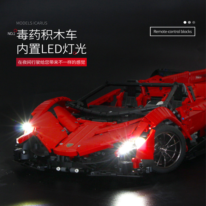 13079 poison RC Car MOC 10559 Veneno Roadster Motor Power Functions Fit App for legoing Technic Building Blocks Bricks Toys Gift 20