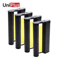 UniPlus 4pcs Ink Cartridge for Canon Selphy CP Series Photo Printer CP1200 CP1300 CP910 CP900 6 inch Cassette Ribbons