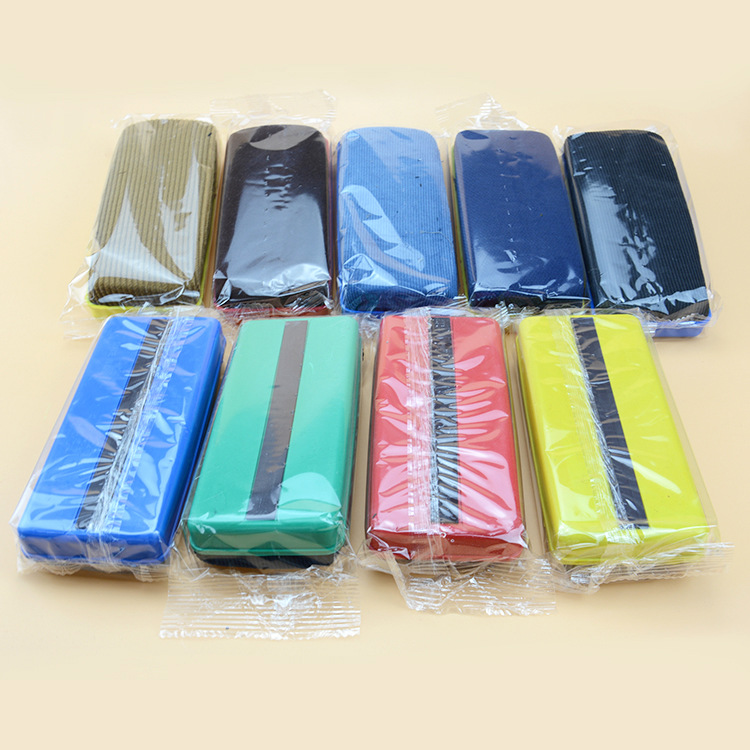 Easy To Wipe Traceless Large Size Board Wiper Office Supplies Magnetic Velvet Stripes White Board Wiper Teaching Learning Graffi
