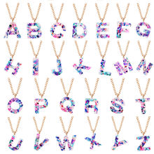 Ожерелье с 26 буквами в европейском и американском стиле популярное