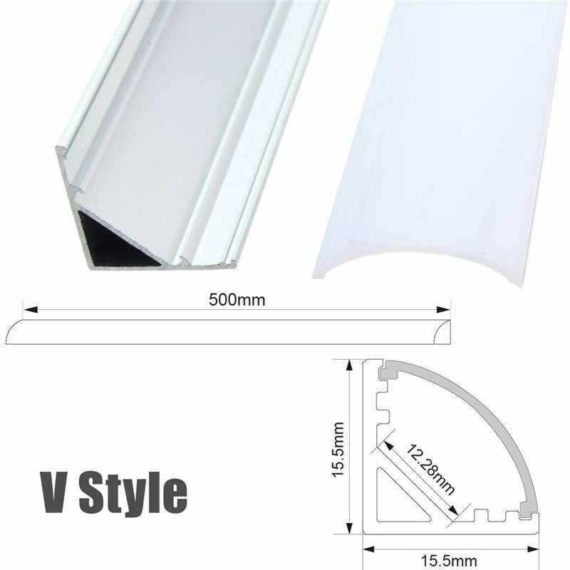 30/50cm LED Bar światła U/V/YW w stylu w kształcie do taśmy LED LightAluminum kanał uchwyt pokrywa mleka w końcu akcesoria oświetleniowe