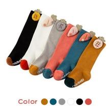 Baby Socks Non-Slip Toddler Girls Warm Boys Winter Kids Knee-High Cartoon Cotton