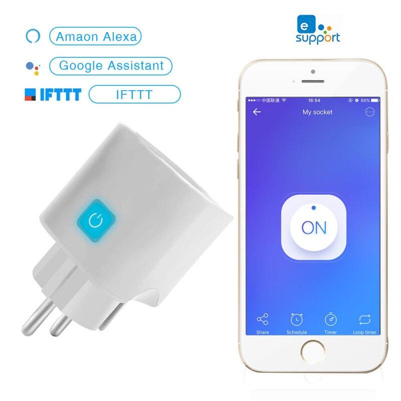 Ewelink Wi-Fi Смарт-розетка мобильный телефон Remote сроки дистанционного Управление совместим с Alexa Google Home Smart Home ЕС