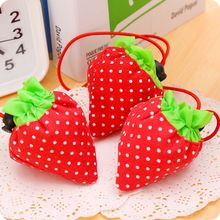 Creative Strawberry Shopping Bag Strawberry Bag Folding Bag Carry Bag Environmental Protection Storage Bag