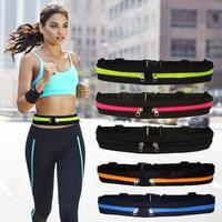 Sac de taille pour course à pied, Fitness en plein air, téléphone portable étanche, ceinture pour Jogging, sac de taille multicolore, transport