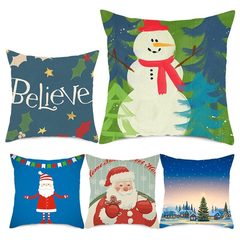 Купить nanacoba санта клаус фото подушка чехол рождественский подарок