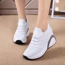 New Shoes Woman Sneakers Height Increasing Ladies Breathable Platform Women Vulcanized Zapatillas Para Mujer