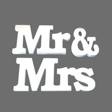3pcs/set Party Supplies Wooden Furnishing Articles in English Letters Wedding Props Sweetheart Table Decor MR & MRS Sign(China)