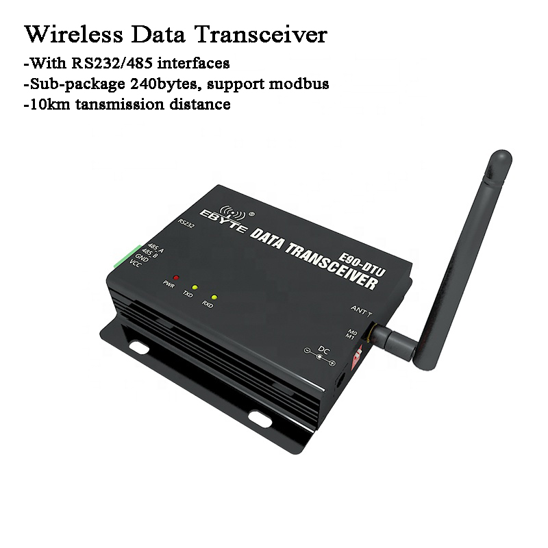 10km Wireless Data Transceiver RS485/RS232 Lora Gateway Modbus Long Distance 868MHz For Signal Monitor/agriculture/petroleum