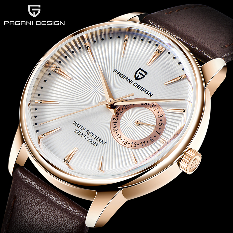 Men Watches Top Brand PAGANI DESIGN Men's Luxury Quartz Watch Stainless Steel Leather Waterproof Wristwatch Relogio Masculino