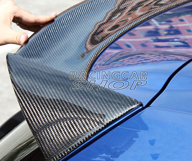 O STIL Real Carbon Fiber HINTEN DACH SPOILER FLÜGEL LIPPE FÜR VOLKSWAGEN VW SCIROCCO 2010-2013 V033