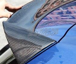 O styl prawdziwego włókna węglowego tylny spoiler dachowy skrzydło LIP dla volkswagena VW SCIROCCO 2010 2013 V033 w Stabilizatory poprz. od Samochody i motocykle na