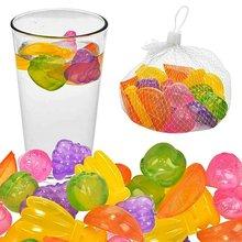 Cubo de hielo de plástico con forma de fruta, pelota para cubos, 24 Uds.