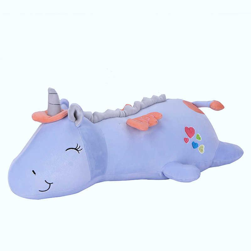 Милая супер мягкая Единорог большая длинная подушка девочка Спящая Подушка Девочка Кукла Плюшевая Игрушка
