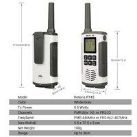 עבור שני הדרך Retevis RT45 PMR446 Portable שני הדרך Talkie Walkie 2PC רדיו 0.5W PMR 446MHz FRS VOX סוללות נטענות עבור מוטורולה TLKR T50 (5)