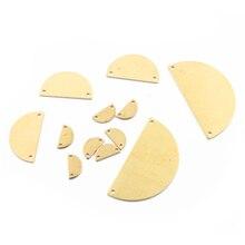 1 упаковка необработанные латунные D соединители форм полукруглые шармы полукруглой формы заготовки Штамповка с двумя отверстиями для ювелирных изделий DIY