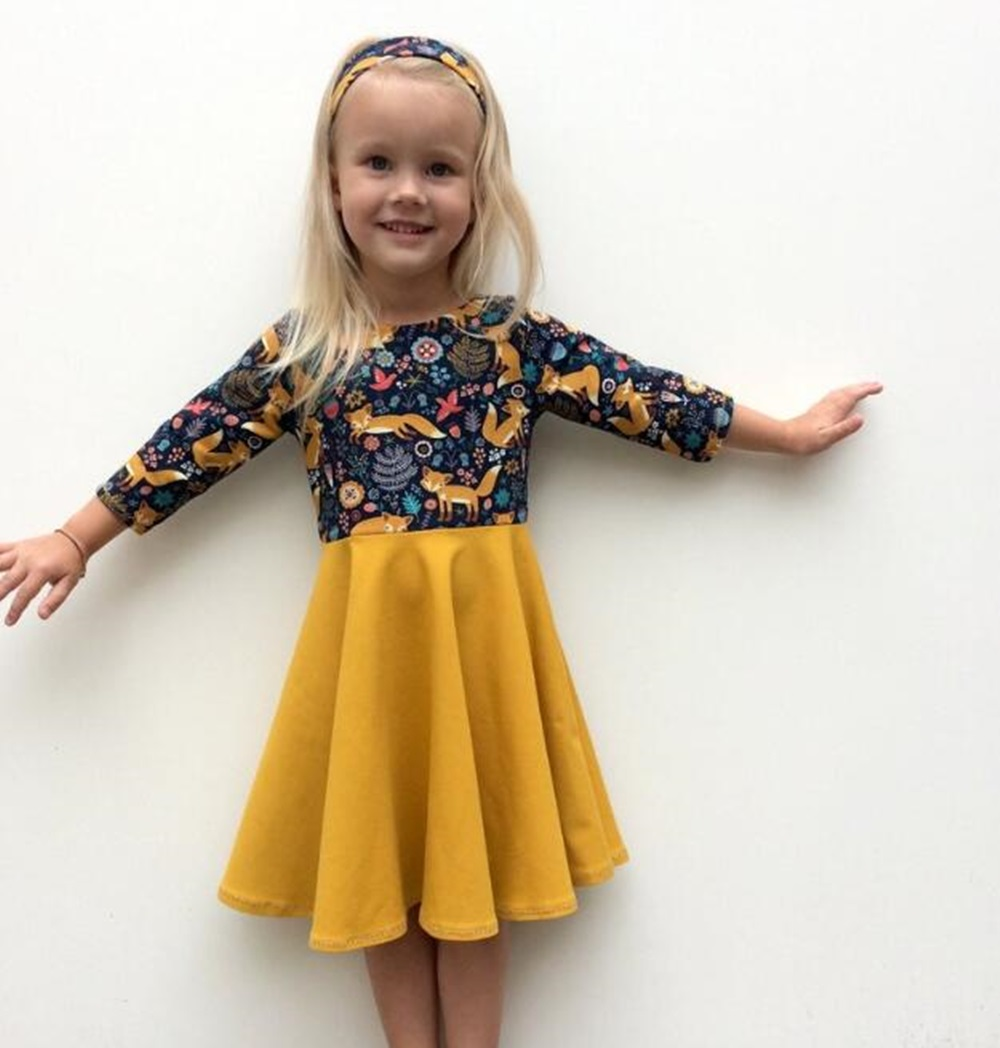 New <font><b>Dress</b></font> <font><b>Girl</b></font> Kids Children Clothing Cotton Color Block Deer Printed Christmas O-Neck <font><b>Princess</b></font> Long Sleeve <font><b>Dress</b></font> <font><b>Girls</b></font> <font><b>Dresses</b></font> image