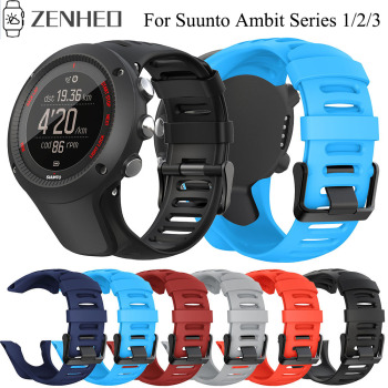 24mm Silicone Strap For Suunto Ambit Series 1/2/3 Watchband SUUNTO AMBIT 1/2/2S/2R/3P/3S/3R Sport Watch Band - discount item  25% OFF Watches Accessories