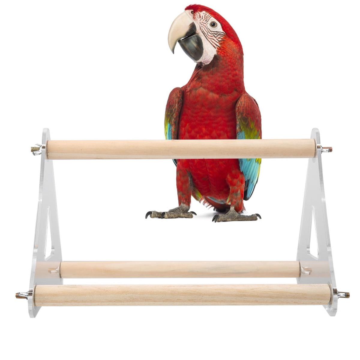 Novo estilo papagaio pássaro poleiro carrinho brinquedos