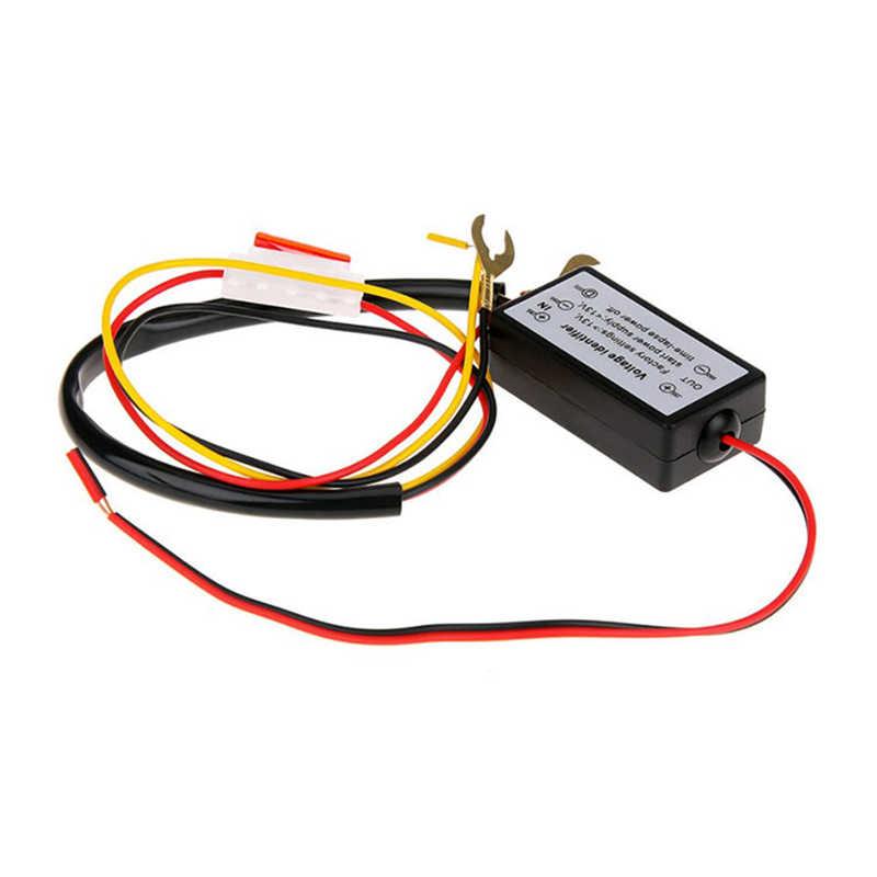 Nuevo controlador DRL para coche, luz LED de conducción diurna automática, relé, arnés, regulador de encendido/apagado de 12-18V con función estroboscópica y de atenuación