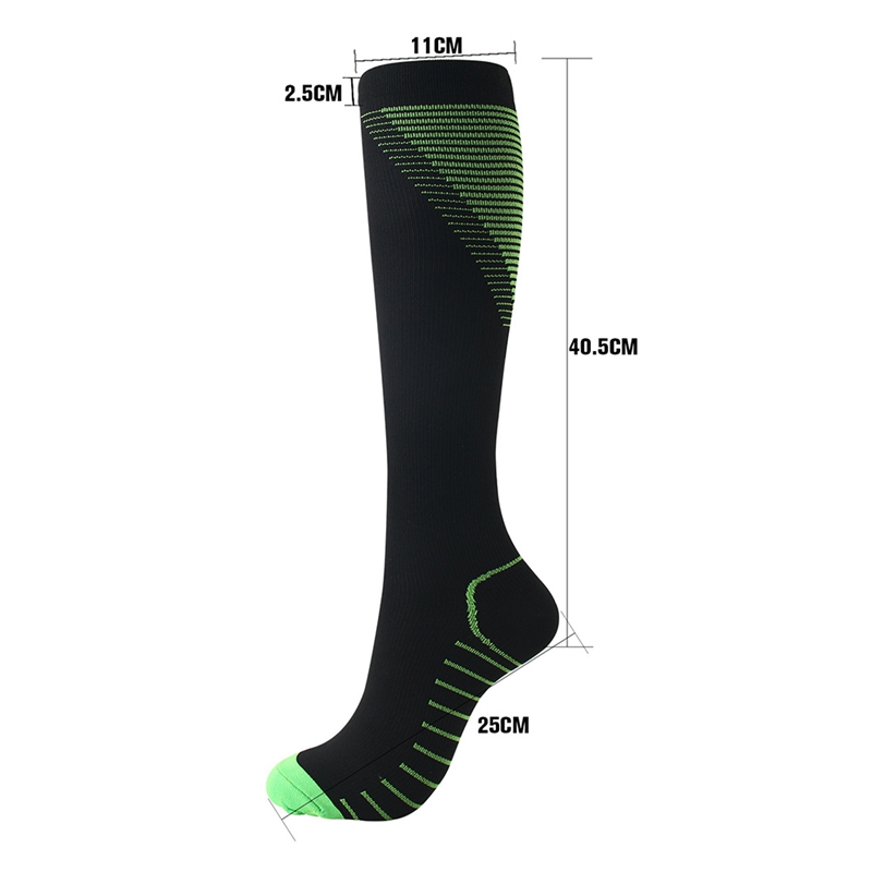 Men Women Compression Socks Calf Protector Football Running Exercise Cycling Socks Fitness Relieve Varicose Veins High Socks