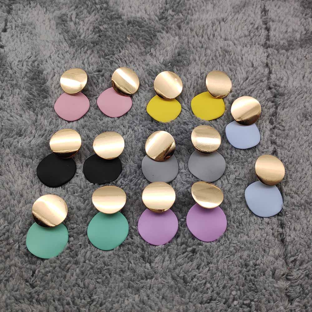 Женские Геометрические серьги P550, круглые золотые серьги в металлическом стиле, 7 цветов, 2019|Серьги-подвески|   | АлиЭкспресс