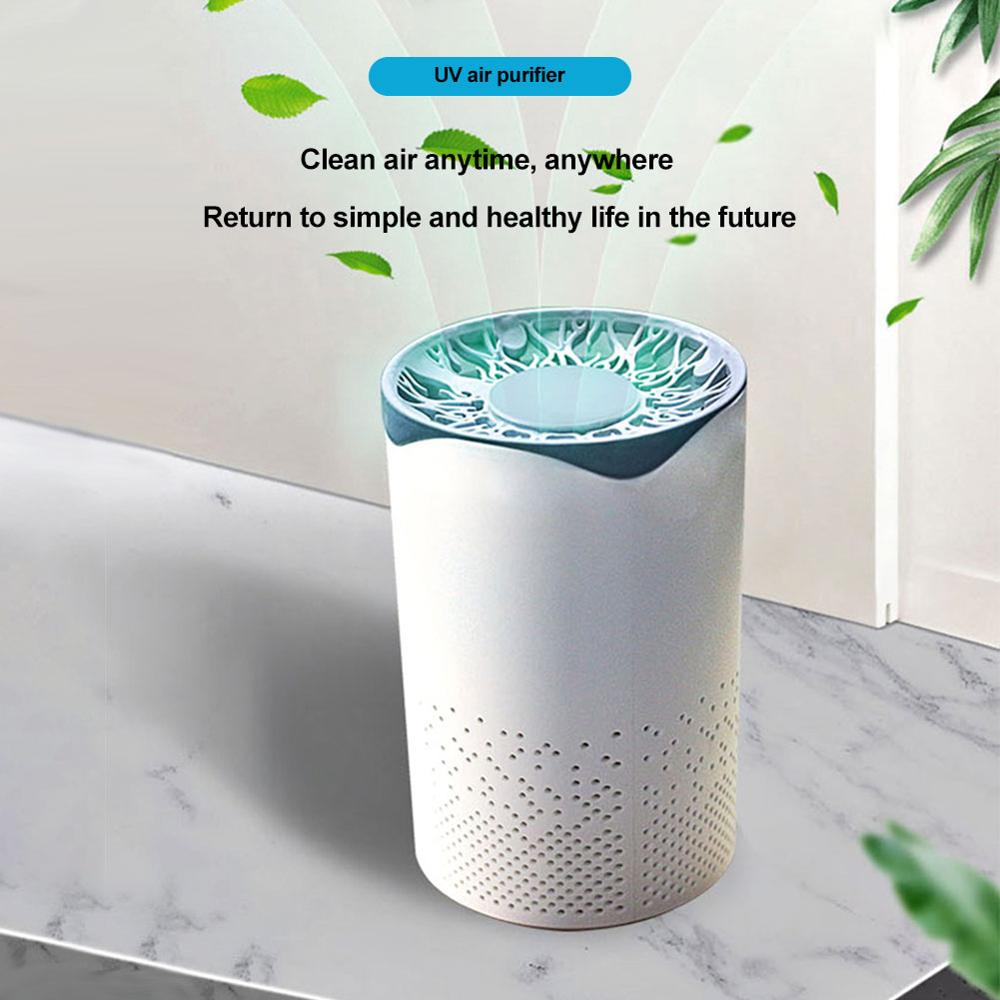 Car UV Air Purifier Filter Air Cleaner Fresh Ozone Home Bedroom auto Smoke formaldehyde sterilizer Smart No Radiation