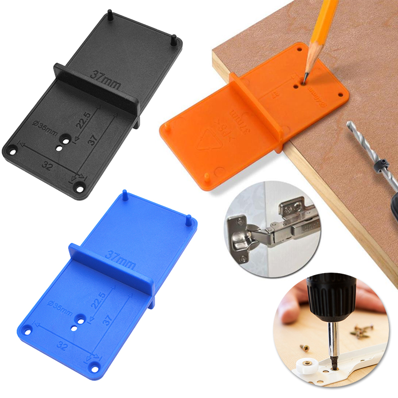35mm 40mm Hinge Hole Drilling Guide Locator Hole Opener Template Door Cabinets DIY Tools For Woodworking Hand Tools Set