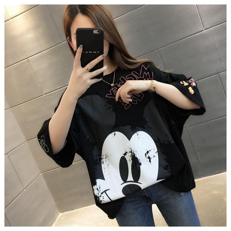 2020-summer-black-loose-half-sleeved-streetwear-outfit-with-cotton-print-cartoon-mickey-t-shirt-punk-vegan-size-font-b-pokemon-b-font