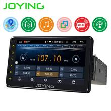 цена на JOYING single 1 din 7 inch universal Car radio GPS Navigation Android 8.1 Radio HD head unit Screen support SWC/Mirror link/BT