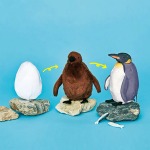 Image 1 - 進化ペンギンぬいぐるみ日本かわいい卵雛大人ペンギンコイン財布手首コイン財布ポーチ女性ハンドバッグカードホルダー
