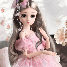 DU JU MU BJD Doll,1/4 SD Dolls 18inch 18 Ball Jointed Dolls with Clothes Outfit Shoes Wig Hair Makeup Best toy Gift for Girls free shipment royal princess 1 4 18 bjd sd girl long implanted hair dolls baby american girl bjd doll with dress and shoes