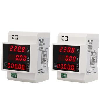 Cyfrowy licznik energii na szynę Din LED aktywny współczynnik mocy wielofunkcyjny miernik mocy Met tanie i dobre opinie Hilitand Elektryczne 220 v 100A-119A Digital Only