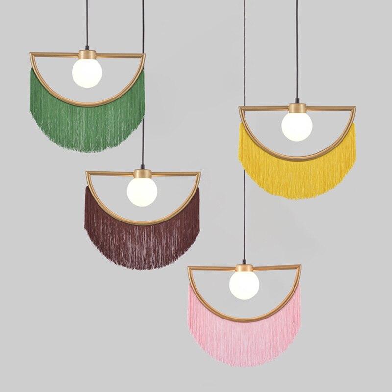 Nordic Chandelier Ins Style Tassel Ceiling Light Modern Minimalist Hotel Bedroom Bedside Lamp Girl Lamp Restaurant Drop Light