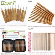 Looen Wooden Bamboo Crochet Hook Set For Knitting Needles And Hooks Needle Arts Craft Sewing Tools