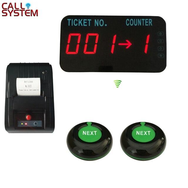مطعم لاسلكي نظام إدارة الصف رقم الشاشة مع طابعة حرارية زر التحكم التالي