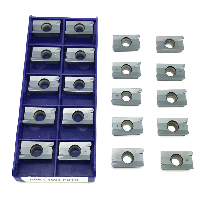 Milling Carbide inserts APKT1604 PDTR LT30 lathe tools CNC insert APKT <font><b>1604</b></font> high quality PVD Milling Cutting tool Hard Alloy image