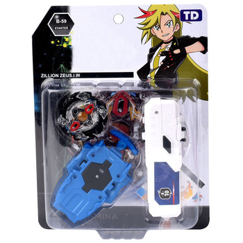 Beybleyd Burst Gyro Top Game Toys for Children Gyroscope with Launcher and Handlebar mini beybleyd burst gyroscope without launcher alloy assemble metal fusion gyro toys for children