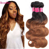 Mechones de pelo ombré ondulado 1B, cabello humano de 30 colores 1B 99J, mechones de cabello rojo borgoña no Remy