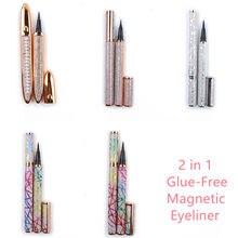 10 Pcs Magic Self Adhesive Lashes Eyeliner Long Lasting No Glue Non Blooming Quick Drying Eyelashes Sticking Eye Liner Pencil