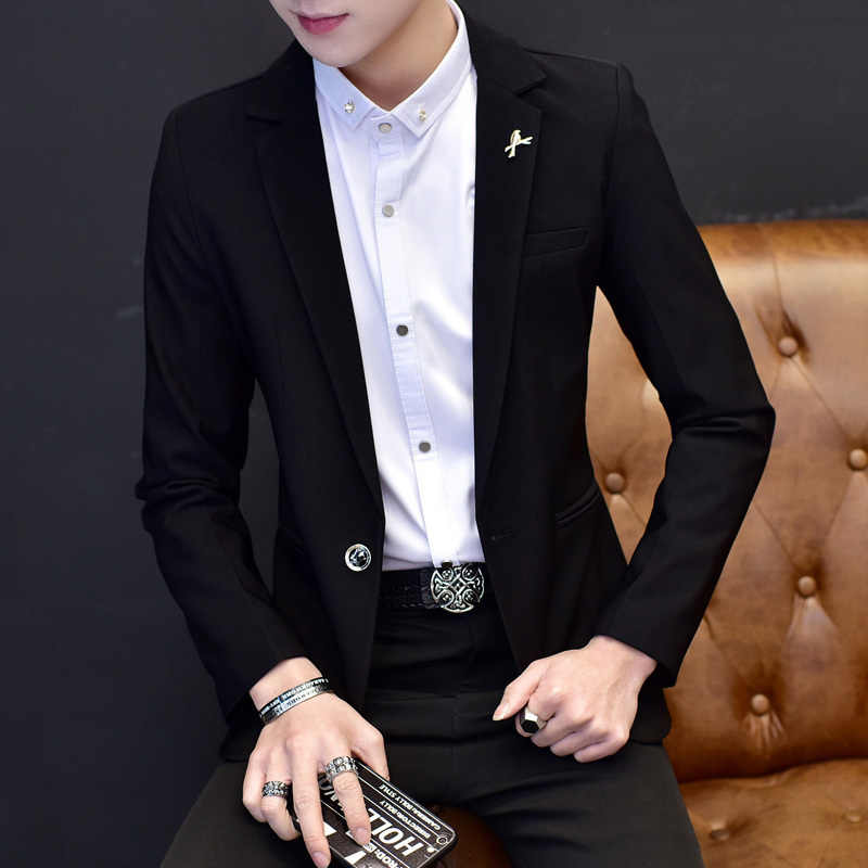 Spring and Autumn new Fashion Men Blazer Casual Suits Slim Fit suit jacket Men Sping Costume  Blazer jacket M-XXXL