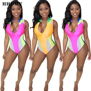 HHDMV Jumpsuits Short-Pants Lapel Sexy Fashion Summer Sleeveless New Tight Zipper YH5076