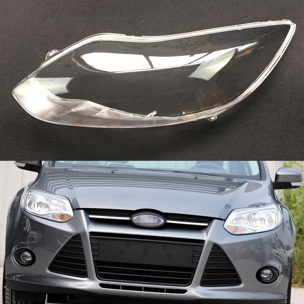 For Ford Focus 2012 2013 Headlight Cover Car Headlamp Lens Clear Auto Shell Cover Driver & Passenger Side Replacement Auto Shell
