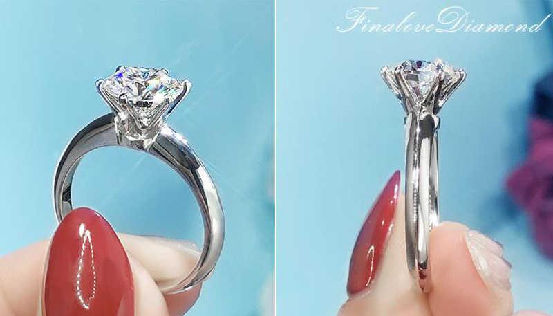 95% OFF! Luxus 2ct Große Lab Diamant Zirkonia Edelstein Ringe für Frauen 18K Weiß Gold Hochzeit Schmuck Braut Ring Ring Größe 4-11