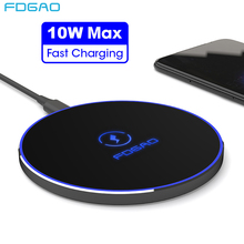 FDGAO Qi Беспроводное зарядное устройство 10 Вт QC 3,0 Быстрая зарядка для iPhone 11 Pro X XR XS Max samsung S10 S9 Note 10 9 Airpods USB зарядная подставка