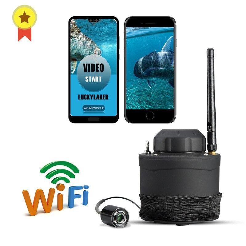 Menu russo! lucky wifi portátil câmera subaquática ff3309 80m faixa de operação sem fio