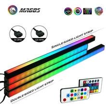 Lampes de châssis Symphony, bande magnétique RGB 40CM, Pollution atmosphérique, 5V ou 12V, ASUS AURA SYNC