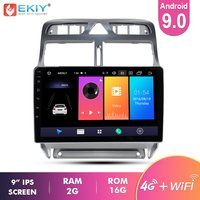 Ekiy 9'' IPS Android 9.0 Not 2 Din Car Multimedia Player AutoRadio Stereo For Peugeot 307 2004 2013 GPS Navigation 4G Modem Wifi